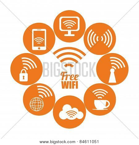 Wi-fi design, vector illustration.