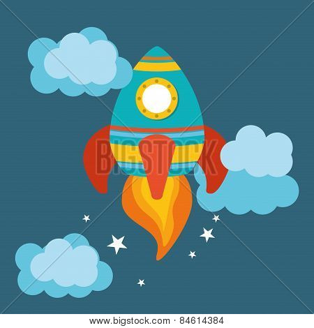 Rocket  design, vector illustration.