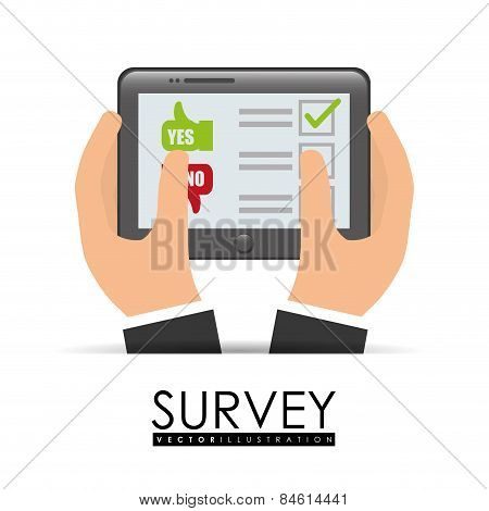 Survey design, vector illlustration.
