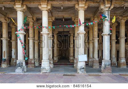 Column At Sarkhej Roza Mosque, Ahmedabad