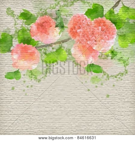 Vector Watercolor Creative Background