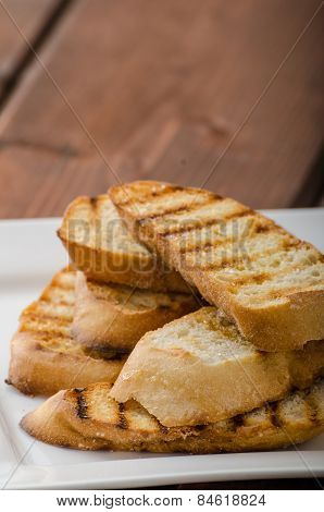 Garlic Toast, Mini Baguettes, Fresh And Fragrant