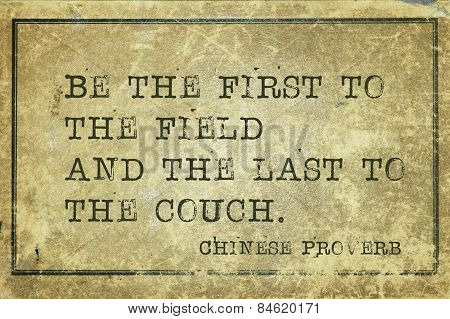 First And Last Proverb