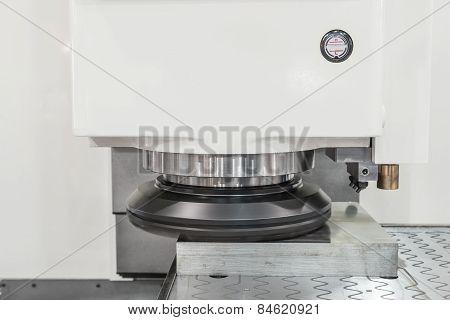 Polishing Cnc Machine Working In Factory