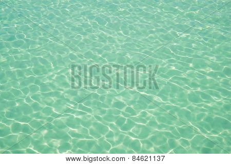 Water Ocean Background. Clear Blue Ripple Aqua Texture