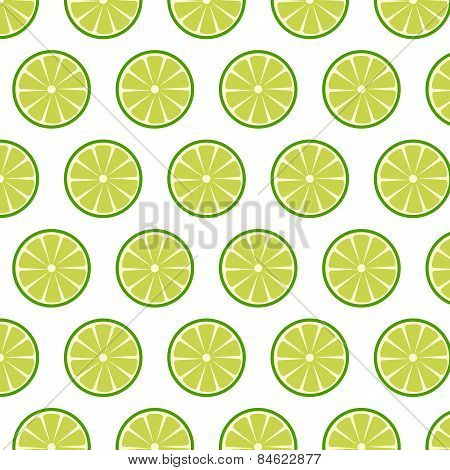 Seamless Pattern With  Lemons Or Limes