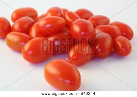 Grape Tomatoes on White