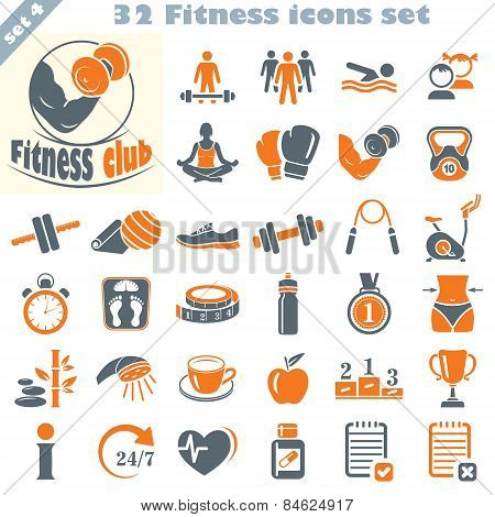 Fitness Icons Set (4)