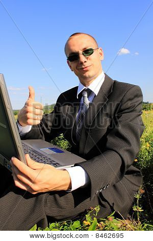 The Businessman In The Field