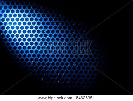Bubble wrap lit by blue light