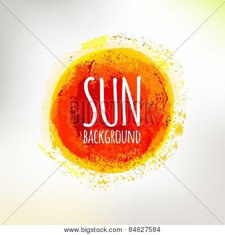 Hand drawing sun symbol illustration