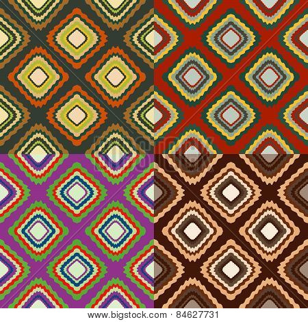 Set Of Seamless Color Patterns
