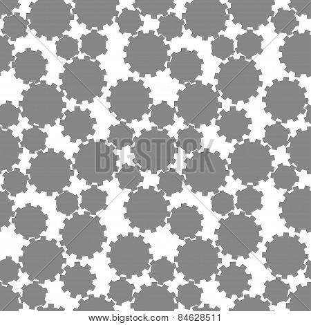 Abstract gear wheels. seamless pattern