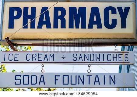 Old Fashioned Pharmacy Sign