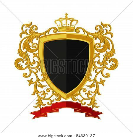 Coat of arms in modern flat style. Vector illustration.