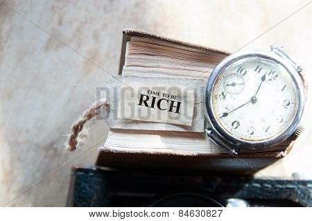 Time To Be Rich Concept