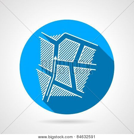 Paintball strategy round vector icon