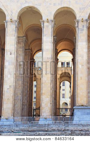 Arches Of Old Parliament Building Republic Of Georgia, Tbilisi, Georgia