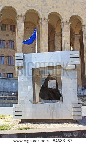 Monument Of Victims Of April 9, 1989 Near Old Parliament Building, Tbilisi