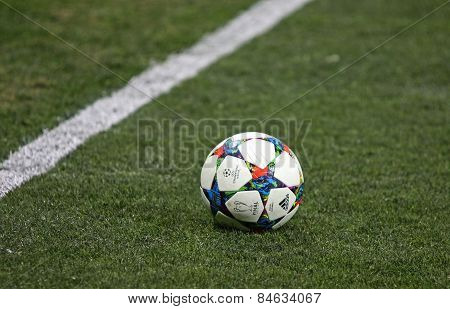 Close-up Official Uefa Champions League Season Ball
