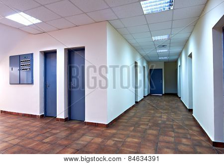 empty corridor in the modern office building