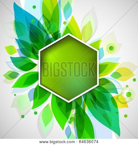 Summer Decorative Background With Geometric Sticker