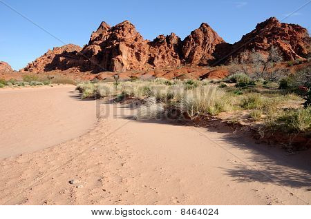 Desert Wash in Valley of Fire State Park Nevada