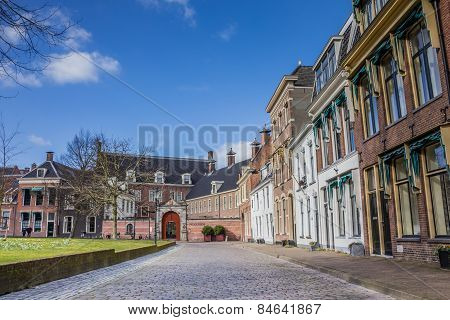 Old Houses And The Prinsenhof At The Martinihof In Groningen