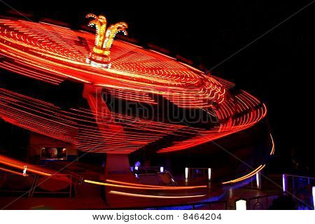 Red carousel on the move