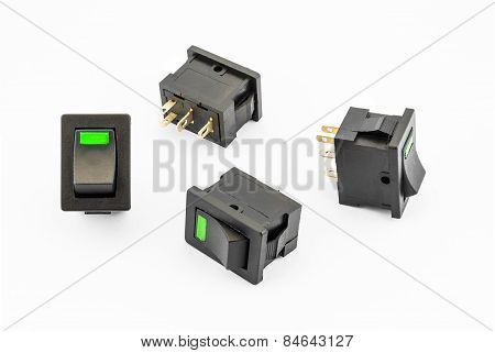 Green Rocker Switches With Build-in Led