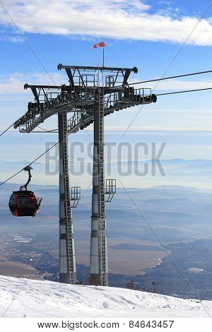 Ski lift on winter resort Tatranka Lomnitsa, Slovakia