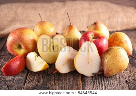 fresh pear and apple