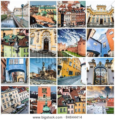 collage of photos from Warsaw