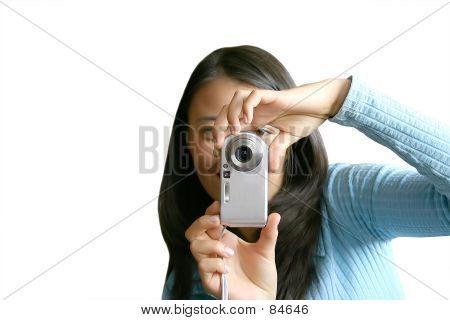 Teen mit Handykamera