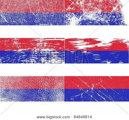 Flag Of Republika Srpska With Old Texture. Vector
