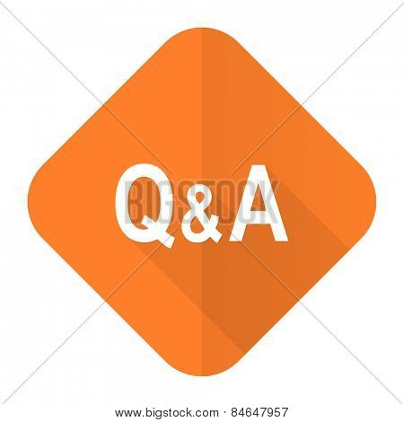 question answer orange flat icon