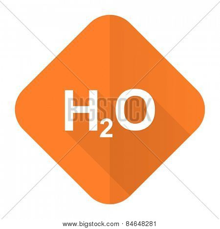 water orange flat icon h2o sign