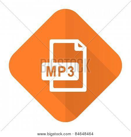 mp3 file orange flat icon