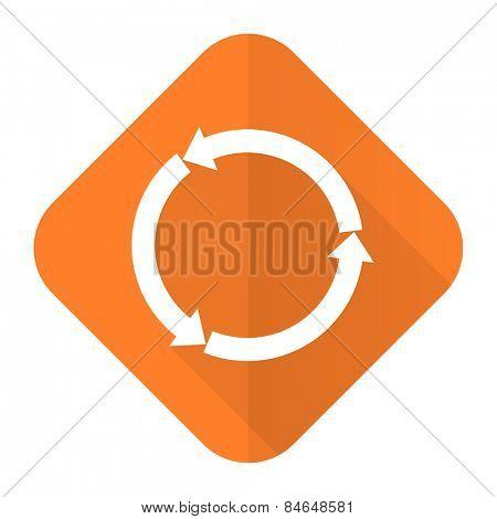 refresh orange flat icon reload orange flat icon