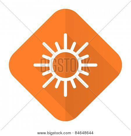 sun orange flat icon waether forecast sign