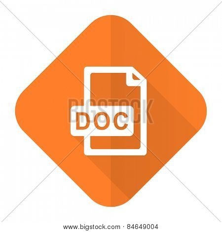 doc file orange flat icon