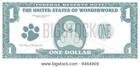 fake dollar - front