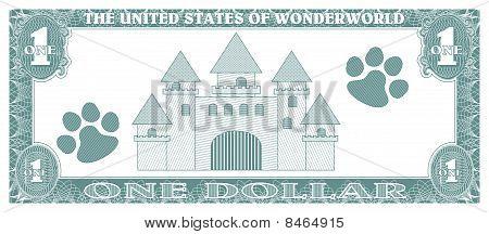 fake dollar - back