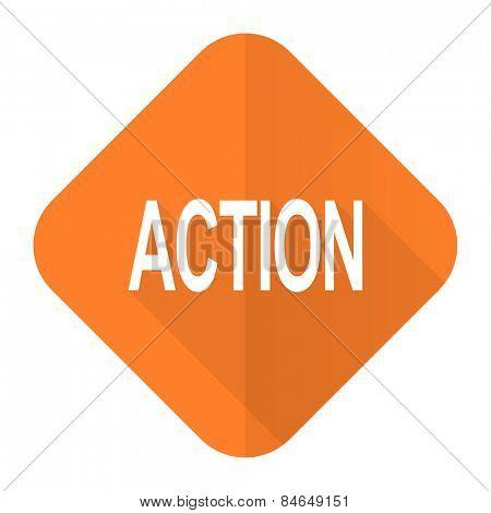 action orange flat icon