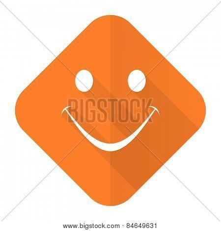smile orange flat icon