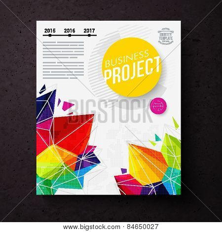 Colorful geometric business report design template