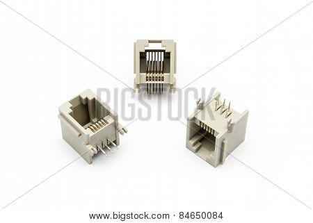 Pile Of Rj-11 Jacks
