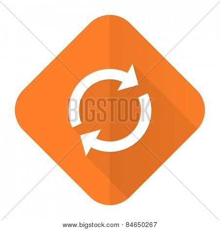 reload orange flat icon refresh sign