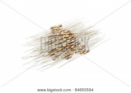 Pile Of Brown Resistors