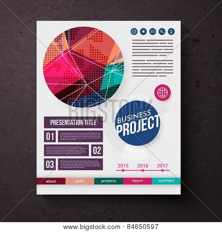 Business Project template vector design